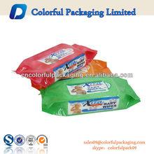Factory OEM 80pcs Plastic Wet Tissue Bags For Baby