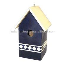 mango wood cheap wooden bird house