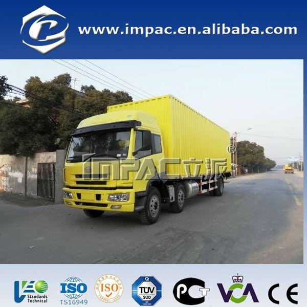 6x4 corrugated plate van truck(9.5m)