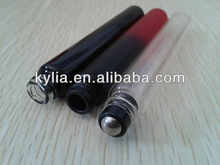 10ml clear roll on glass bottle for cosmetic packaging , glass bottle with metal roll on, for liquid packing