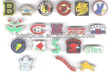 National Hockey League team logo lapel pins