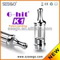2014 vidro mais populares do modelo seego vape tanque com led g-hit k1 com vapor de grande