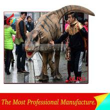 atractivo realista de la vida tamaño dinosaurio disfraces de circo