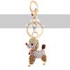 Beautiful Crystal Lovely Dog Keychain Jewelry Fashion Keyring Gift Accessory Purse Charm Pendant Free Shipping