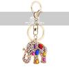 Beautiful Crystal Lovely Elephant Keychain Jewelry Fashion Keyring Gift Accessory Purse Charm Pendant Free Shipping