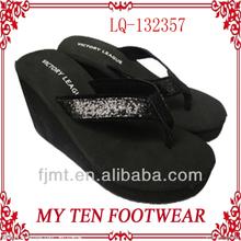 Sexy Black Women's High Heel Wedge Sandals