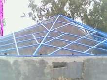 steel frame for fiberglass shed