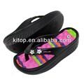 novo design eva salto alto da sandália da senhora chinelos