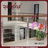 interior wood railings| indoor wood railings| wood top rail