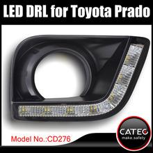 LED DRL With fog light frame for Toyota Land Cruiser Prado GX GXL VX TZ TX TXL 2 L4 V6 2009 2010 2011 2012 2013 2014