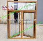 Solid Wood clad aluminum window for Villas