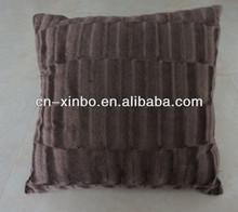 Ultra Soft Stripe Brushed Brown Decorative Cushion/Sofa Cushion