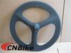 Chinese cheap 3k matte road bike carbon tri-spoke wheel /sample order accept