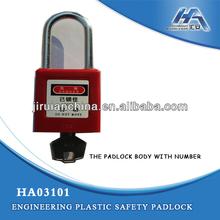 Manufactor brass cylinder ABS body key code safety padlock Tianjin