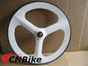 70mm tubular white 3 spoke bicycle wheel,road bike carbon tri spoke wheel
