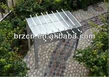Galvanized carbon steel charcoal bbq grill
