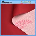 100% polyester, 75d/72f double jersey interlock tricoter fabric+ tpu film imprimé( 8000/3000)(feather