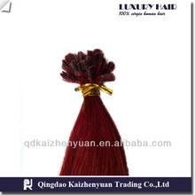top grade 1g/stand glue pre-bonded hair,U tip hair extension