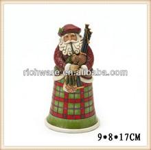 Hand crafted resin Scottish santa figurine christmas decoration
