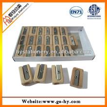 Single hole wood pencil sharpener