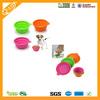 cute silicone pet travel food bowl/folding silicon pet bowl