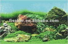 Wholesale hot selling waterproof plastic aquarium background picture, Algae & white rock C530060