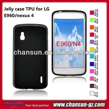 high quality jellly case tpu for LG E960 nexus4 cell phone case