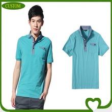 Fashion latest half sleeve double collar polo shirt
