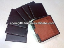 ADACS - 0036 leather padded coaster / india manufacturer christmas cup coaster / cup coaster holders