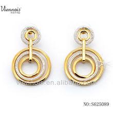 Viennois wholesale big round shape earrings hoop change