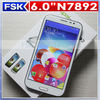 android 4.3 mobile phone N7892 octa-core phone MTK6592 1.7GHz 6 inch 8.0MP rear camera HD 3G alibaba express