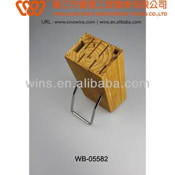 knife storage wooden block