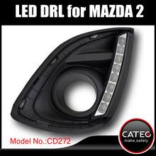 LED DRL With fog light frame for Mazda 2 Sedan Sports V R RZ Direct Energy Sport MZR MZ 2012 2013 2014