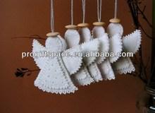 2014 hot sell Eco friendly christmas angel felt handmade in bulk made in China