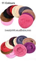 Temperament Soft Winter hats women cheap beret caps wholesale lady warm hat
