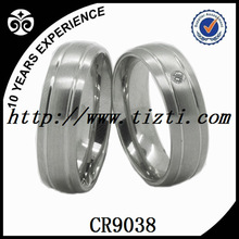 Stainless Steel Couple Wedding Engagement Ring Set