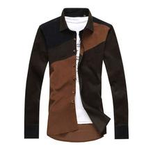 2015 dark colour style latest fancy dress shirts for men