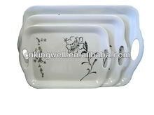 Simple printing melamine tray ; hotel tray ;serving tray with handle