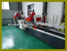 PVC and Aluminum window door double head precision saw / Window door machinery (LJZY-500*4200)
