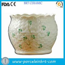 fiore muro vaso e fioriera in basket stile tessere