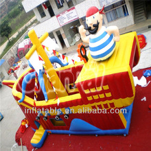 2014 new style pirate ship inflatable slide
