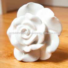 Ceramic Rose Knob For Dressers