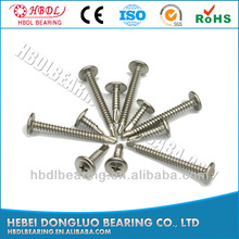 stainless steel hex cap self tapping machine screw