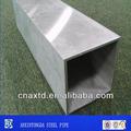 Astm a333 gr8 estrutura brasão zinco tubo de aço quadrado