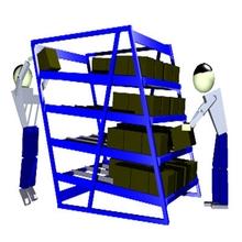 FIFO lean manufacturing gravity flow rack Powder coating gear carton flow rack