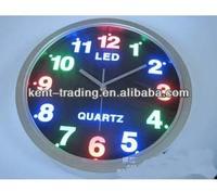 LED Aluminum wall clock round wall clock