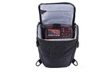 leather man's shoulder bag , triangle shaped bags for dslr camera
