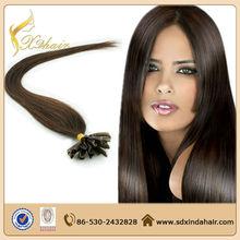 2014 nuevos productos italia pegamento queratina pre- en condiciones de servidumbre del pelo humano extensiones de uñas punta del cabello