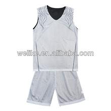 Basketball jersey white and black basketball team uniform reversible basketball jersey set