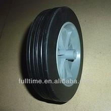 """Solid Rubber Wheel 7x1.5"""" Gray Rim"""